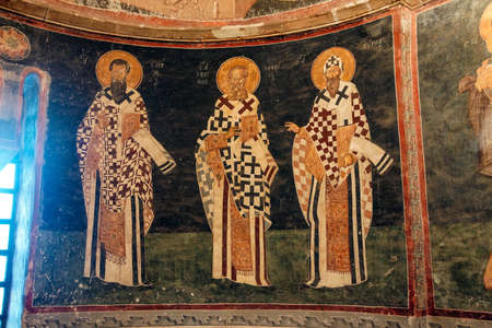 fresco: ISTANBUL, TURKEY - MAY 15, 2014 - Fresco of  the apostles, Chora Church (Kariye Muzee ) in Istanbul, Turkey