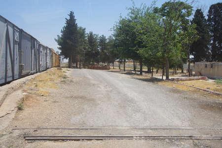 AKCAKALE, TURKIJE - 8 juni 2014 - Turks checkpoint aan de Syrische grens in Zuidoost-Turkije, juni 2014