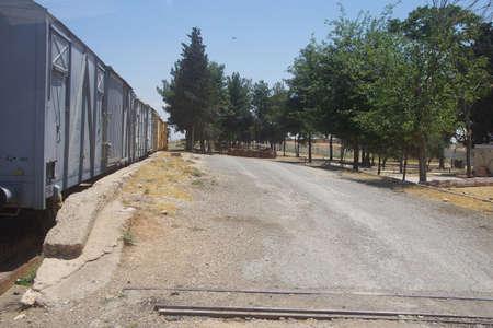 Akçakale, TURKIJE - 8 juni 2014 - Turkse controlepost op de Syrische grens in Zuidoost-Turkije, juni 2014 Redactioneel