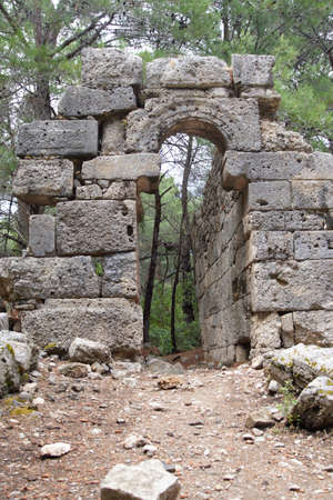 Ruins of a street and arched doorway in  Phaselis,  Turkey Reklamní fotografie