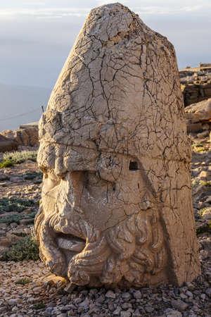 Giant head of Heracles,  tumulus of Nemrut Dag,  Turkey