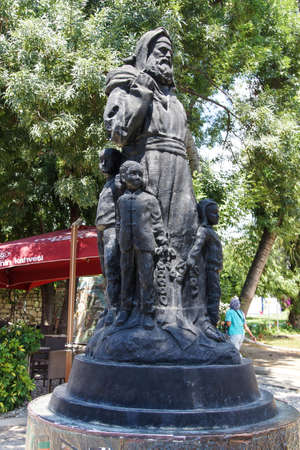 grave site: Statue of Saint Nicholas , bishop of Demre,  Turkey