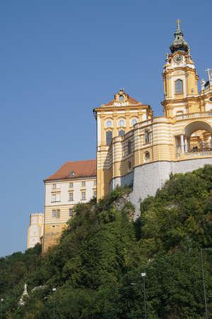 Baroque Benedictine monastery, on a hill above  Melk, Austria