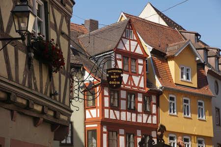 wertheim: Medieval houses and signs in  Wertheim, Germany