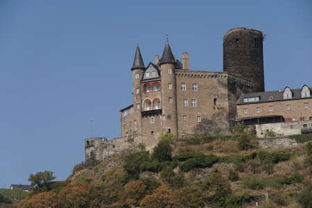 Katz castle on the  Rhine River, Germany 版權商用圖片 - 64681324