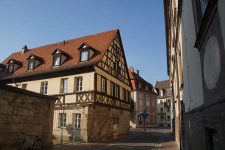 timbered: Half timbered renaissance house  in   Bamberg, Germany
