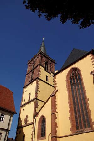 wertheim: Romanesque church in  Wertheim, Germany Stock Photo