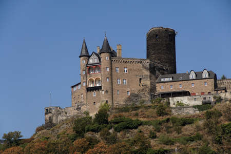 Katz castle on the  Rhine River, Germany 版權商用圖片 - 64681580