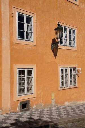PRAGUE - SEP 1 , 2016 - Baroque buildings  on Nerudova Street,  Prague, Czech Republic Editorial