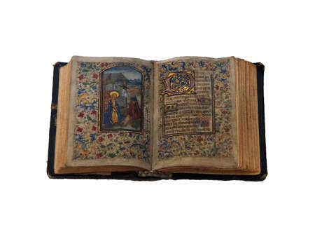 PRAGUE - SEP 1 , 2016 - Illuminated manuscripts in the medieval library of Strahov Monastery,  Prague, Czech Republic Editorial