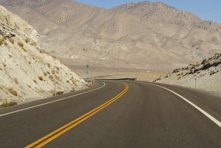 nevada desert: Empty  desert highway in Nevada