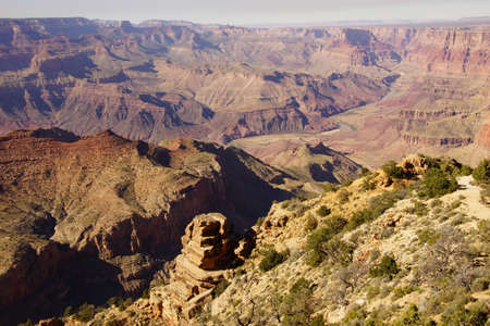 Sheer cliffs along the South Rim, Grand Canyon National Park, Arizona Banco de Imagens