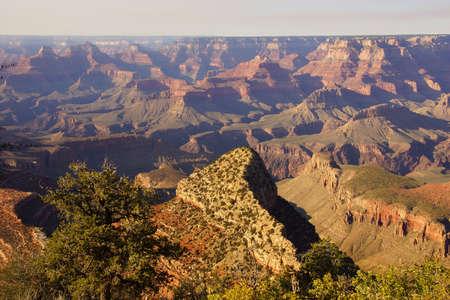 south rim: View across and into the canyon,  Grand View Point, South Rim, Grand Canyon National Park, Arizona