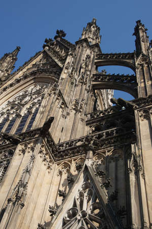 buttresses: COLOGNE, GERMANY - flying buttresses of St Peters Cathedral,  Cologne, Germany