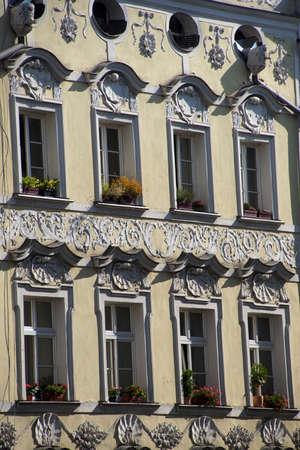 baroque: Baroque buildings in  Passau, Germany Stock Photo