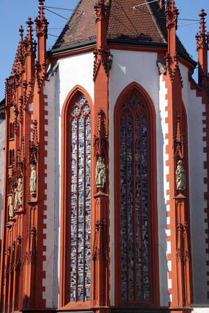 curch: Late Gothic Marienkapelle Curch of Our Lady,  Wurzberg, Germany Stock Photo