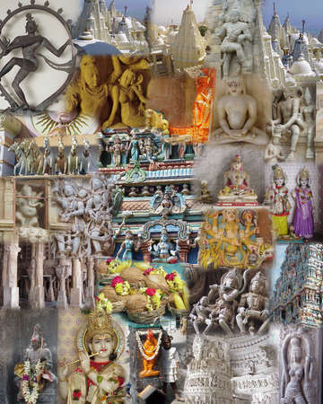 goddesses: Montage - India - Temples, Gods and Goddesses