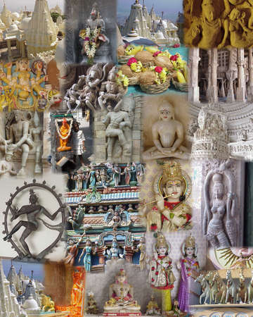 gods: Montage - India - Temples, Gods and Goddesses