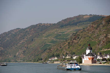 barge: Barge on the  Rhine River, Germany