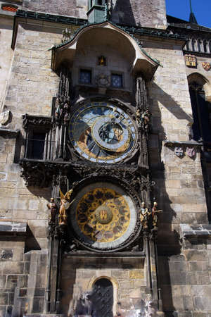 PRAGUE - AUG 31, 2016 - Old Town Hall with astronomical clock Prague, Czech Republic Redakční