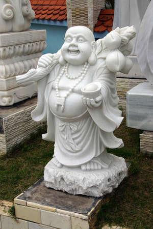Laughing Buddha statue, Danang,  Vietnam Stock Photo