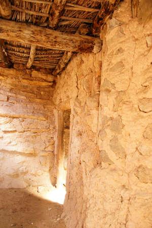 anasazi ruins: Interior of Anasazi Pueblo,   circa1050 - 120 CE,  Anasazi State Park Museum,  , Boulder, Utah