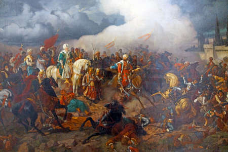 ISTANBUL, TURKEY - MAY 16, 2014 - First Vienna Siege , Askeri Museum, Istanbul,