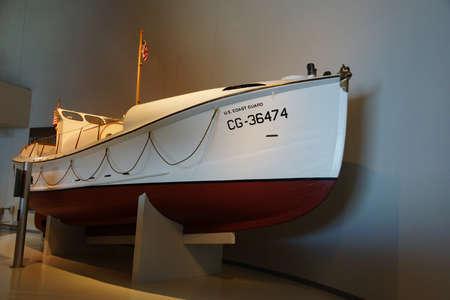 Coast Guard small boat in  Astoria, Oregon