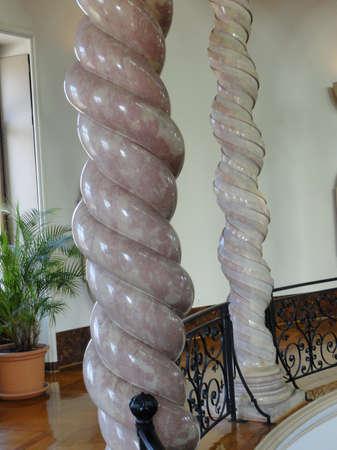 twisting: GENEVA, SWITZERLAND - MAR 4, 2012 - Spiraling and twisting alabaster columns Geneva, Switzerland Editorial