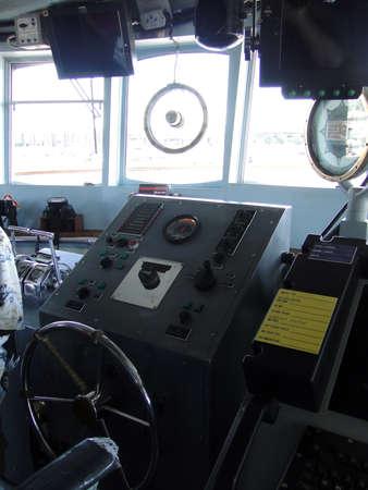 sonar: I quadri di comando sul ponte di Alert Guardia Costiera taglierina USCGC a Seattle