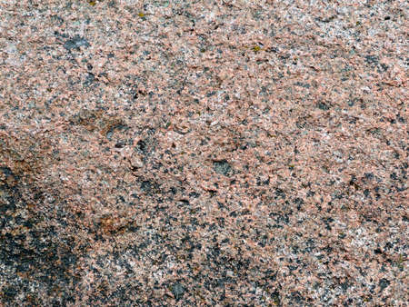 Detail, pink granite and grey, black and blue lichens on summit of Cadillac Mountain, Mount Desert Island, Acadia National park, Maine, New England          Stock Photo