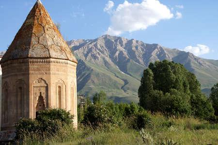 Seljuk cemetery and tomb near Lake Van  Turkey