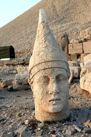 Giant head of Antiochus I Commagene,tumulus of Nemrut Dag,  Turkey