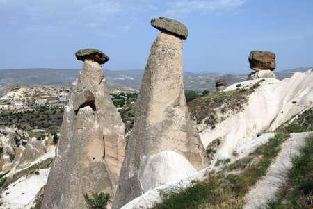 Fairy chimneys and balancing rocks of Devrent Valley in  Cappadocia, Turkey