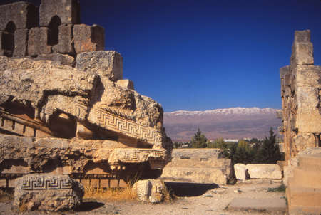 Columns, ruins of Temple of Jupiter, Baalbek,Lebanon