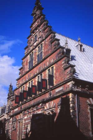 Oud stadhuis van Haarlem, Nederland Stockfoto