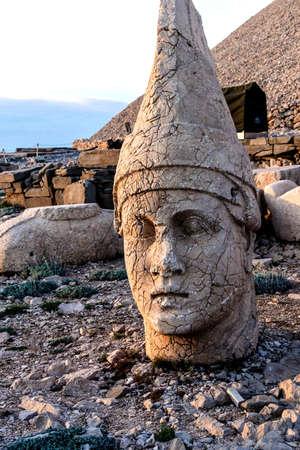 Giant head of Antiochus I Commagene, tumulus of Nemrut Dag,  Turkey