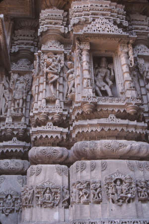 Intricate carvings on Jain Temple at  Mount Abu, India