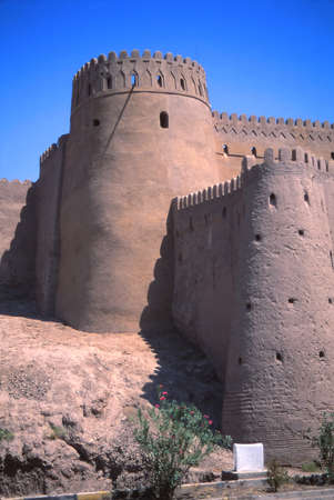 adobe wall: Outer walls of medieval city and fortress,Bam, Iran, Middle East Stock Photo