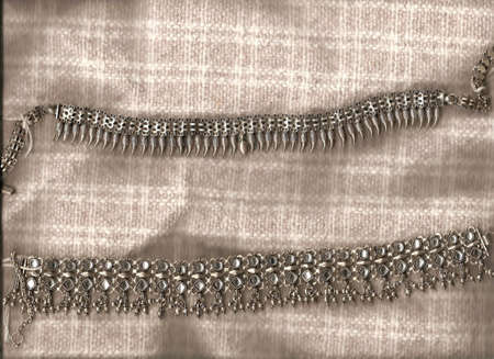Traditional Indian silver necklaces and jewelry from Rajasthan