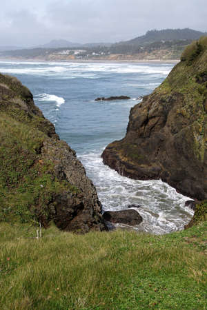Rocky headlands near Otter Rocks,  Newport, Oregon