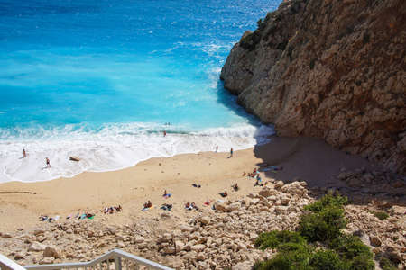 Spectacular blues of the Aegean Sea from the coastal highway near Xantos,  Turkey