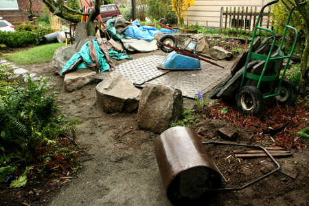 Building a patio in a Seattle garden