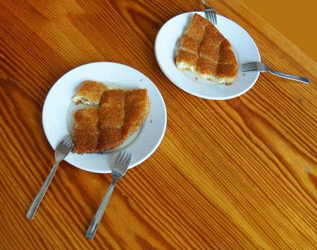 Sticky, sweet kunefe dessert  in Urfa bazaar,  Turkey