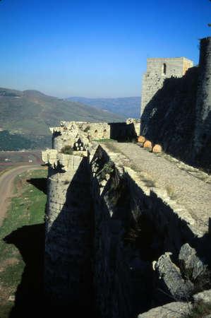 Krak des Chevaliers, beroemdste kasteel van de Kruisvaarders, Syrië Redactioneel