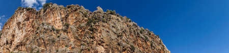Rugged island mountain landscape   from the coastal highway near Xantos,  Turkey