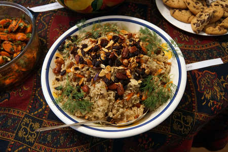 Rice pilaf with raisins and nuts,Seattle