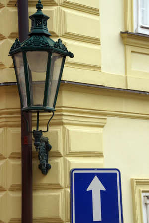 Street lamp on Baroque building, Kutna Hora, Czech Republic Stok Fotoğraf