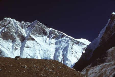 South Face of Lhotse  seen from near summit of Island Peak, Khumbu Himalaya,Nepal, Asia Stock Photo
