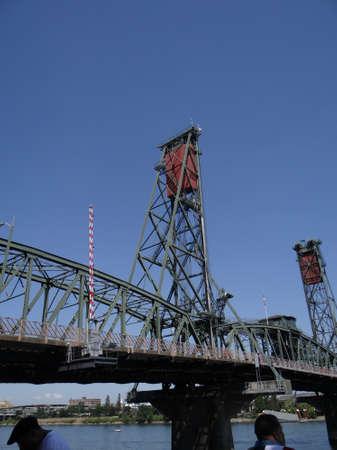 willamette: Hawthorne Street bridge on the Willamette River in  Portland,  Oregon